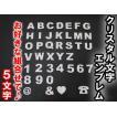 クリスタル / 立体(3D) 文字エンブレム お好きな組合せ「5文字」セット