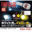 RG レーシングギア 品番:RGH-P551 (バルブタイプ: H8/H11/H16)  LEDフォグバルブ ツインカラー/ホワイト光/イエロー光を切替
