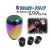 シフトノブB●バレル型 チタンカラー 焼き入れ色 AT/MT兼用 汎用/3サイズ アダプター付/純正 カスタム交換用/ミッション オートマ/ポリッシュ