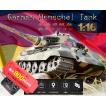 HENG LONG 1/16 ラジコン戦車 プラモデル ドイツ キングタイガー BB弾発射 赤外線対戦 金属  RCカー  リモコン こどもの日 アウトドア 旅行