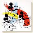 キャンバスアート ディズニー キャンバスパネル 50角 スリーミッキー/絵画 壁掛け 壁飾り インテリア 油絵 花 アートパネル ポスター 絵 額入り リビング 玄関