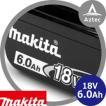 【マキタ】2個セット 18V/6.0Ahリチウムイオンバッテリ  BL1860B A-60464
