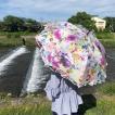 Ballett バレット ロマンスローズプリントの超撥水加工の晴雨兼用ショート傘 日本製 遮光99%カット
