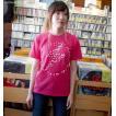2weekセール☆ パンクロックTシャツ / イナズマーク Tシャツ (ホットピンク)-G- 半袖 メンズ レディース バンドTシャツ ロゴ プリント かわいい 春 夏 桃色