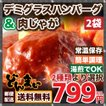 簡単調理 2種類から選べるセット 野菜入りデミハンバーグ・肉じゃが ゆうメール 送料無料