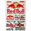 海外限定 / SS / PVC製 / RED BULL FIGHTERS レッドブル ロゴ ステッカー カスタム MC ライダー 防水