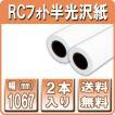 プロッター用紙 インクジェットロール紙 RCフォト半光沢紙 1067mm×30M 2本入 印画紙絹目 42インチロール紙