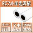 プロッター用紙 インクジェットロール紙 RCフォト半光沢紙 1118mm×30M 2本入 印画紙絹目 b0ロール紙