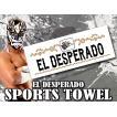 新日本プロレス NJPW エル・デスペラード スポーツタオル (ホワイト)