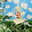 ビーズキット どうぶつ カラフルオカラフルオウムのちいさな鳥かご ビーズマニア