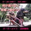 1回限定 人気のお試し犬用首輪2個セット オーダーメイドで作成 小型犬 中型犬 子犬