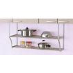 キッチン収納 伸縮パイプ棚2段(幅60〜90×奥行25×高さ45cm)