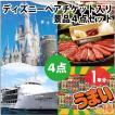 ディズニー ペア パスポート チケット 特選!松阪牛 東京湾 ランチクルージング うまい棒1年分 景品4点セット パネル付き