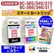3年保証 キャノン CANON互換 BC-310/311 BC-345/346 iP2700 詰め替えインク スマートカートリッジ 顔料 黒+カラー 推奨写真用紙サンプル付 ベルカラー製