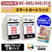 3年保証 キャノン CANON互換 BC-310 BC-345 顔料 iP2700 詰め替えインク スマートカートリッジ 純正比27%増量 黒 2個 ベルカラー製
