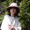 レディース ハット 婦人 撥水 通年(ベージュ×オールドローズ/ブラック×カーキ)24-288 リバーシブル撥水クローシュ ベルモード