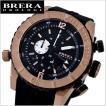 BRERA OROLOGI ブレラ オロロジ 男性用腕時計 Sottomarino Diver ソットマリノ ダイバー ブラック x ローズゴールド メンズ BRDVC4702