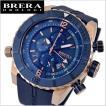 BRERA OROLOGI ブレラ オロロジ 男性用腕時計 Sottomarino Diver ソットマリノ ダイバー ネイビー  x ローズゴールド メンズBRDVC4707