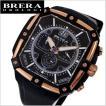 BRERA OROLOGI ブレラ オロロジ 男性用腕時計 SUPER SPORTIVO SQUAREスーパー スポルティーボ スクエア ブラック x ローズゴールド メンズ BRSS2C4603