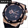 BRERA OROLOGI ブレラ オロロジ 男性用腕時計 SUPER SPORTIVO スーパー スポルティーボ ブラック x ローズゴールド メンズ BRSSC4902