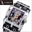 COGU(コグ)SAKURA(桜)機械式腕時計・自動巻き/革ベルト・ブラック C63SKR-BKB