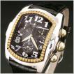 Ritmo Latino(リトモラティーノ) 腕時計CLASSICO(クラシコ)クロノグラフ/ワニ革黒ベルト 黒文字盤/メンズ  (正規品) QCAL30GS