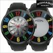 ROMAGO DESIGN ロマゴデザイン 腕時計 NUMERATION (ヌメレーション)ミラーウォッチ 牛革ベルト/ブラック x マルチカラー文字盤 RM007-0053ST-RD