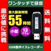 超小型USB型 ワンタッチ 簡単 ボイスレコーダー 4GB Win7/8/8.1/10対応 正規品/30日間保証 【 会議 講義 軽量 防犯 パワハラ 長時間 ic コピー メモリ 携帯 】