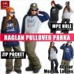 BANPS パーカー スノーボード RAGLAN PULLOVER PARKA smile 2015-16 スノボー ウェア スノボ スキー 裏起毛 メンズ レディース BANPSSNOWBOARDING