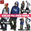 BANPS パーカー スノーボード RAGLAN PULLOVER PARKA slash 2015-16 スノボー ウェア スノボ スキー 裏起毛 メンズ レディース BANPSSNOWBOARDING