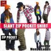 BANPS シャツ 15-16 SLANT POCKET SHIRT スラントポケットシャツ ジップポケット  ウェア スノボ スキー メンズ レディース BANPSSNOWBOARDING