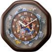 CITIZEN シチズン リズム時計 クロック ONE PIECE 掛け時計 キャラクター時計 メロディ付 ワンピースからくり時計 4MH880-M06