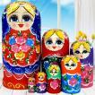 マトリョーシカ ロシア 人形 手作り お土産 動物 ぬいぐるみ 娯楽用品 ギフト プレゼント ロシア巣人形 入れ子人形 飾り分離 ドール 手描き 誕生日に
