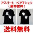 ソフトテニス ペアTシャツ(2枚一組)(風神雷神)(背中プリント)バドミントン 卓球