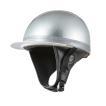 ヘルメット コルク半キャップ 三つボタン シルバーラメ 新品 半ヘル 57cm〜60cm未満 半帽 バイクパーツセンター