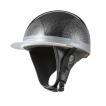 ヘルメット コルク半キャップ 三つボタン ブラックラメ 半ヘル 57cm〜60cm未満 半帽 バイクパーツセンター