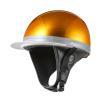 ヘルメット コルク半キャップ 三つボタン ゴールドラメ 新品 半ヘル 57cm〜60cm未満 半帽 バイクパーツセンター