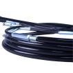 CB750F ワイヤーセット 20cmロング ブラック アクセル...