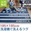 【送料無料】洗えるラグ カーペット 丸洗いOK ホットカーペット対応 国産 ウォッシャブル