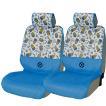 [MINIONS]エプロンタイプ汎用シートカバー[ミニオンパターン]取付け/取外し簡単!フリーサイズフロント2席分セット ホワイト