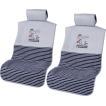 取付け 取外し 簡単 エプロンタイプ 汎用 シートカバーフロント2席セット フライングスヌーピー Flying Snoopy グレー
