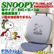 大垣産業[ボンフォーム]フライングスヌーピー[Flying Snoopy] ダブルクッション サイズ:約45×95cm グレー