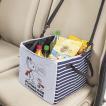 車内 整理 整頓 収納ボックス フライング スヌーピー Flying Snoopy サイズ:約30×30×25cm グレー