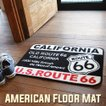 US ROUTE66 アメリカン フロアーマット CALIFORNIA 玄関マット バスマット