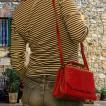 本革 2way ショルダーバッグ  うなぎの革 イールスキン ヌタウナギの革製 スモールエンベロープバッグ