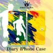 iPhone 6 7 plus 5s galaxy xperia 手帳型 スマホ ケース ブランド サッカー イラスト 国旗 フラッグ かっこいい シルエット