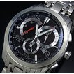 CITIZEN / Chronograph シチズン / クロノグラフ メンズ ソーラー腕時計 ブラック文字盤 メタルベルト AT1007-51E 海外モデル