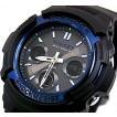 CASIO G-SHOCK カシオ Gショック ソーラー電波腕時計 アナデジモデル ブラック×ブルー(海外モデル)AWG-M100A-1A