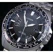 CITIZEN シチズン メンズ ソーラー電波腕時計 ブラック文字盤 メタルベルト CB0027-51E MADE IN JAPAN 海外モデル
