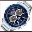 CASIO EDIFICE カシオ エディフィス ソーラー腕時計 クロノグラフ メンズ ネイビーカーボンファイバー/ゴールド文字盤 メタルベルト 海外モデル EQS-900BCD-2AV